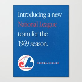 Montreal Expos Advertisement Canvas Print