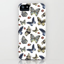 Butterfly and ladybird iPhone Case