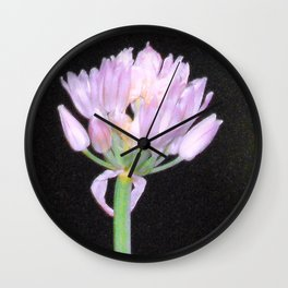 Chives Single Flower Wall Clock