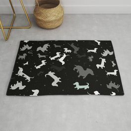 dachshund dog constellation Rug