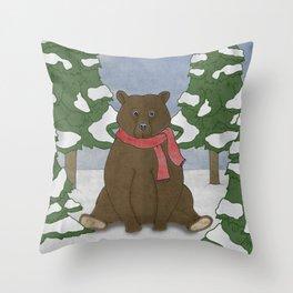 This winter I won't hibernate Throw Pillow