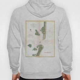 Vintage Map of The Barnegat Inlet (1865) Hoody