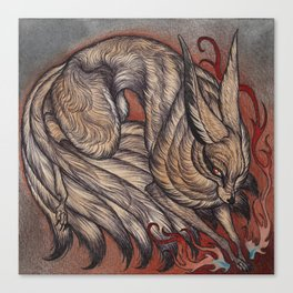 Nine Tailed Fox Canvas Print