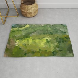 Mountain Forest Green Life Adventure Rug