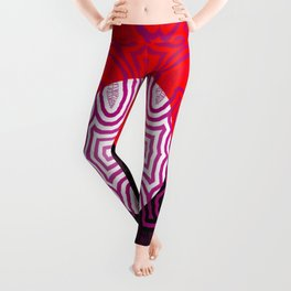 Red, white, black - and lilac ... Leggings