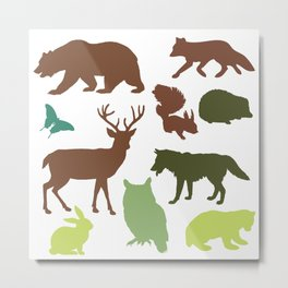 Wild Animals Metal Print