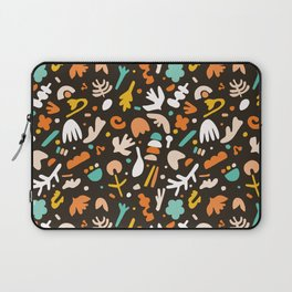 Abstract childish collage cut out shapes. Laptop Sleeve