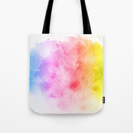 Rainbow abstract artistic watercolor splash background Tote Bag
