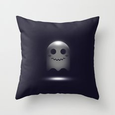 Ghost in 3D Throw Pillow