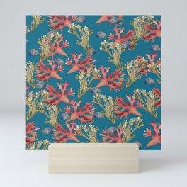 West Coast Seaweed and Seashell  Mini Art Print