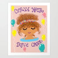 curly hair don't care! Art Print