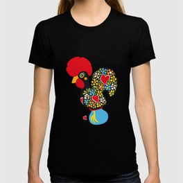 Rooster of Barcelos | Portuguese Lucky Charm T-shirt