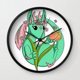 Flora the Flower Dragon Wall Clock