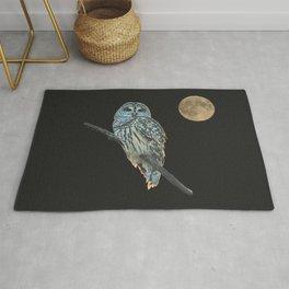 Owl, See the Moon (Barred Owl) Rug