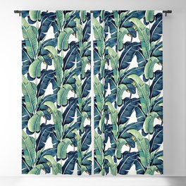Banana leaves Blackout Curtain