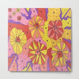 Gallactic Garden Colorful Art Metal Print