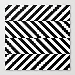Black and White Op Art Design Canvas Print