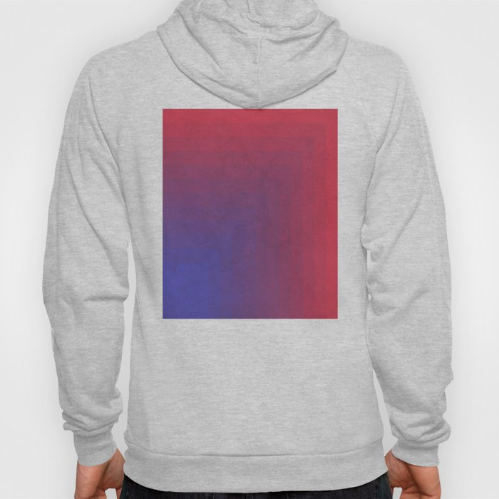 Abstract Rectangle Games - Gradient Pattern between Dark Blue and Moderate Red Hoody