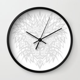 Heart of a Lion - Gray Wall Clock