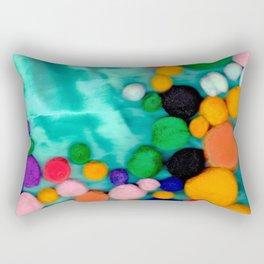Pom poms Rectangular Pillow