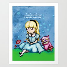 Alice Can't Go Back Art Print