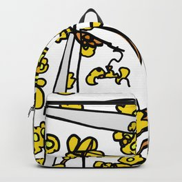 Golden Petals on Branches Backpack