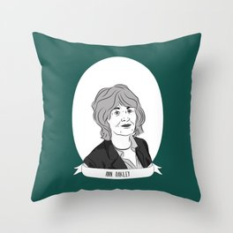 Ann Oakley Illustrated Portrait Throw Pillow