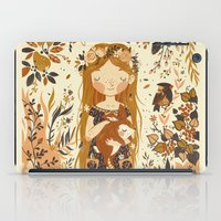 rug iPad Cases featuring The Queen of Pentacles by Teagan White