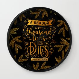 Thousand Lives - gold Wall Clock