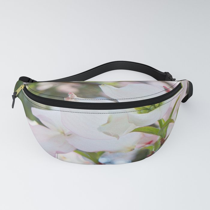 blush kissed dogwood with bokeh Fanny Pack