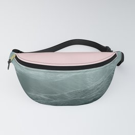 Mountains Pink + Green - Nature Photography Fanny Pack