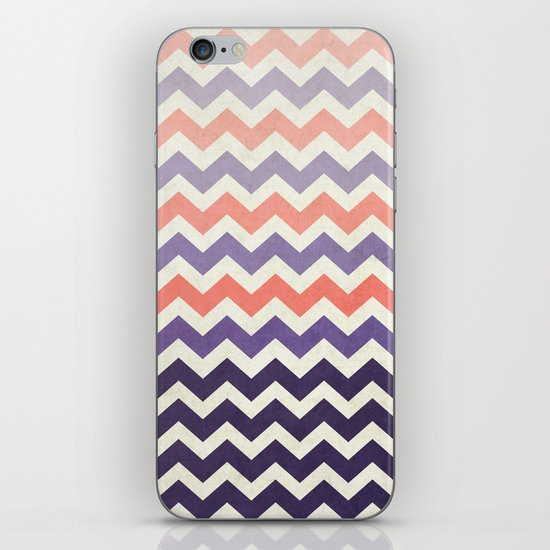 Pink Purple Chevron iPhone & iPod Skin