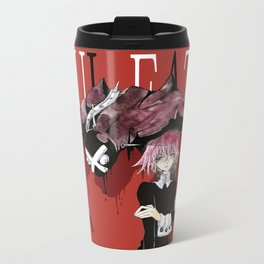 Black Blooded / Red Metal Travel Mug
