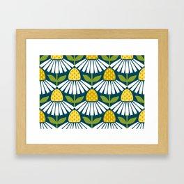 the daisies greet you Framed Art Print