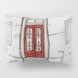 Red Doors  Pillow Sham