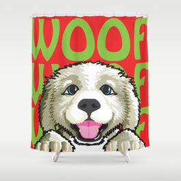 Gus The Dog Shower Curtain