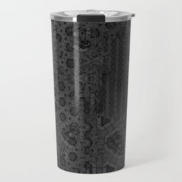 Love the strangeness in your thoughts. Vintage gothic pattern. Typography. Travel Mug