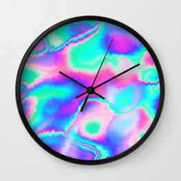 Holographic Glitch Wall Clock