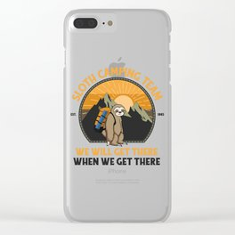 Sloth Camping, Sloth Camping Team  Clear iPhone Case