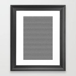 Chevron Black Framed Art Print