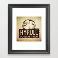 Hyrule Poultry Farms Framed Art Print