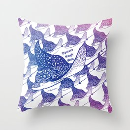 Spotted Eagle Ray III Throw Pillow