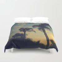 florida Duvet Covers featuring Florida by Jillian Stanton