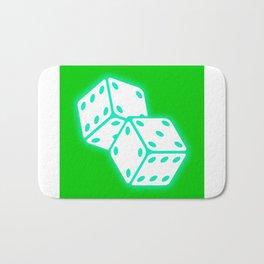 Two game dices neon light design Bath Mat