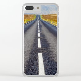 Road to Nowhere. Clear iPhone Case