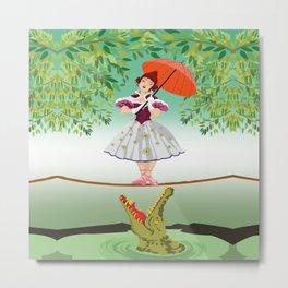 The Umbella girl With crocodile Metal Print