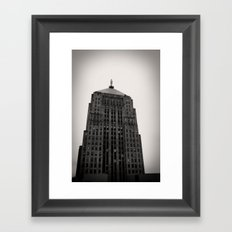 Chicago Board of Trade Building Black and White Framed Art Print