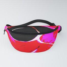 Red Black Pink Blue Digital Eye Fanny Pack