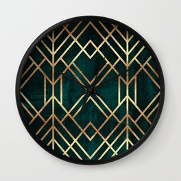 Dark Teal Geo Wall Clock