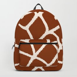 Love My Giraffe! Faux Animal Print Pattern Backpack